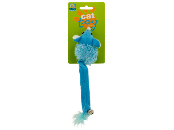 Cat Toy Mouse with Bell and Feathers