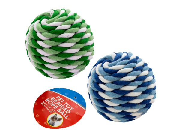 3.2 inch pet toy rope ball