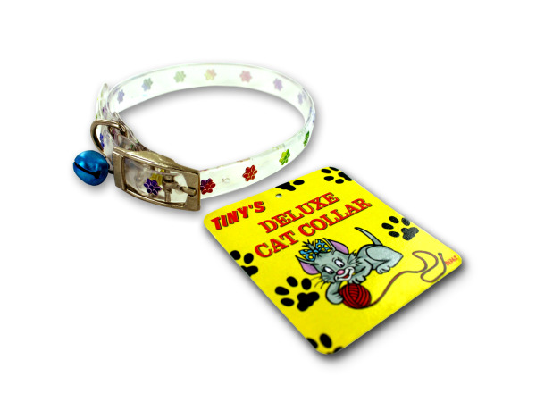 Plastic cat collar with bell