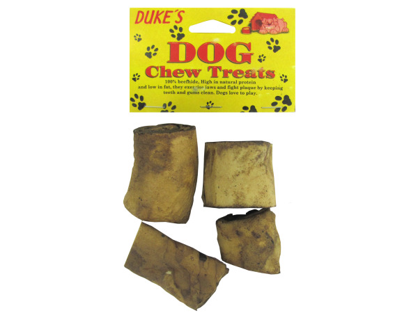 Rawhide rolled dog treats, pack of 4