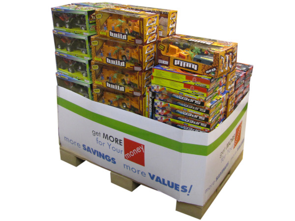 Boys Toy Premium Pallet 144-Piece