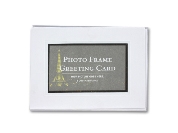 Blank photo frame greeting cards