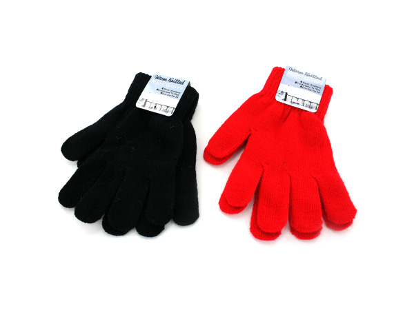 Knitted magic gloves, red or black