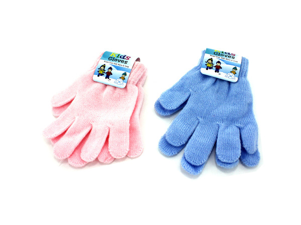 Kid's Gloves, Assorted Pink Or Blue