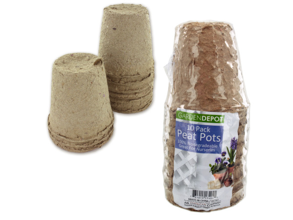 Biodegradable peat pots