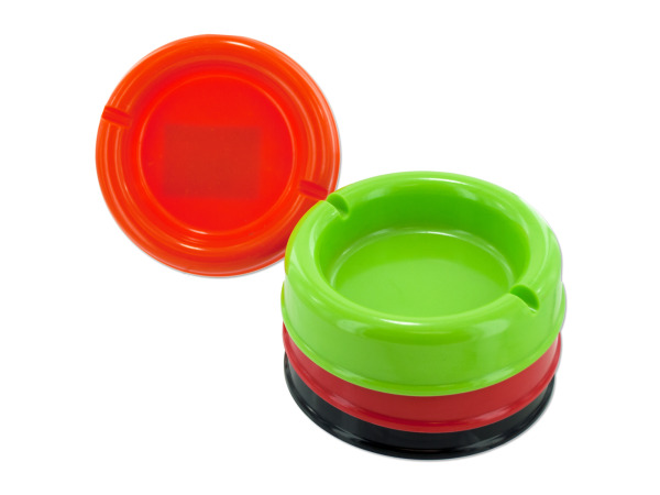 "4.5"" Round Plastic Ashtray"