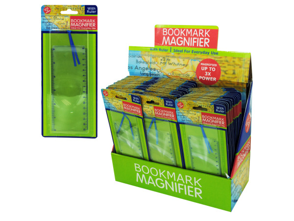 Magnifying bookmark ruler display