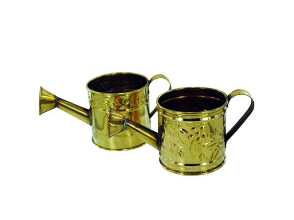 brass watering can decor 2 assorted styles