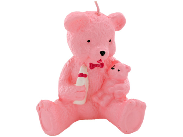 2.5 Inch x 3.5 Inch Pink Bear Candle