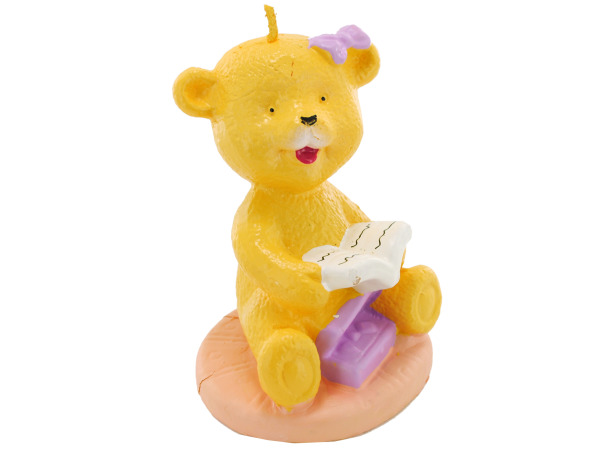 2.5 Inch x 3.5 Inch Reading Baby Bear Candle