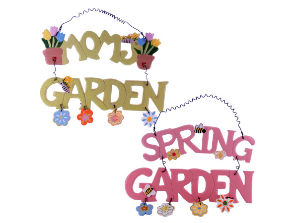 garden wood plaque assorted