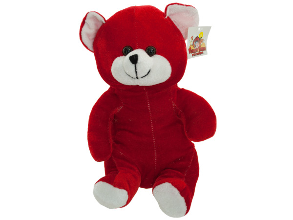 "10"" red plush bear 4673"