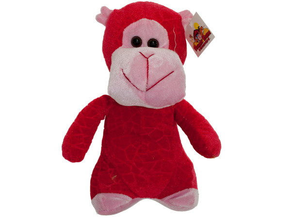 10 inch red plush monkey 4720