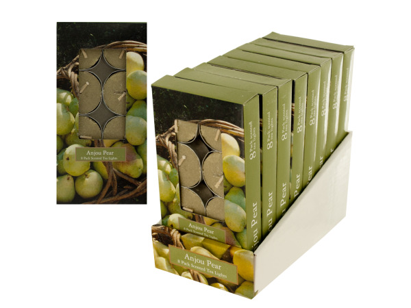 8 pack scented tea lights anjou pear