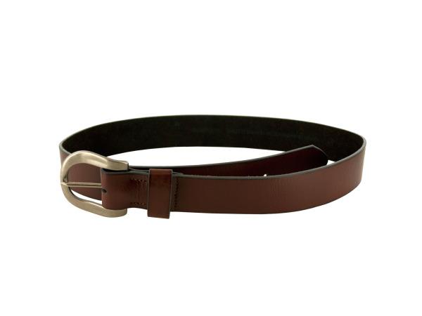 lrg brown belt slvr buckl
