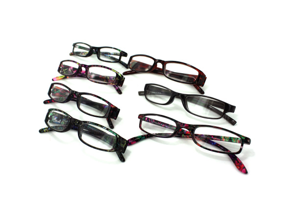 Reading glasses, assorted designs and powers