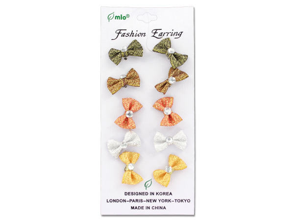 Bow fashion earrings, assorted styles