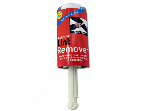 Adhesive lint brush with sheets