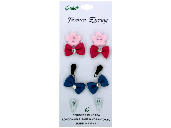 5 pair earrings assorted designs