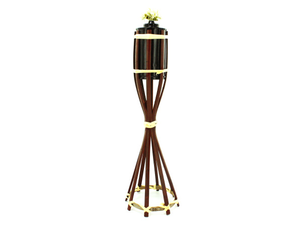 Wicker tiki torch