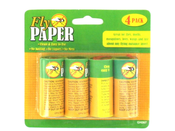 4 Pack rolled fly paper