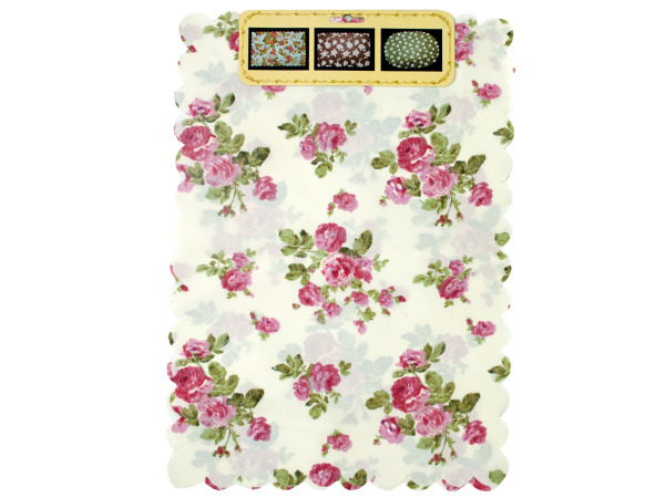 2 piece flower table mat assorted designs