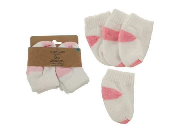 Baby Girl Lowcut Socks (size 0 - 6 months)