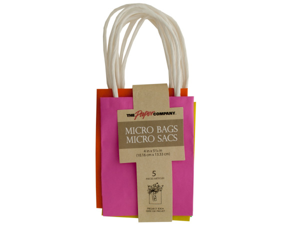 Fashion Colors Micro Gift Bags