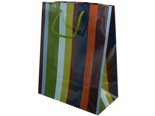 12.5 x 9.5 gift bag stripe