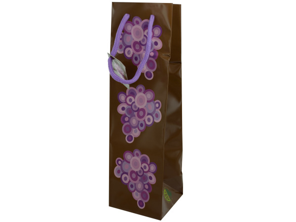 Wine Gift Bag with Grape Design