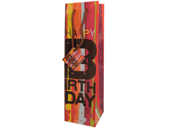 bday bottle gift bag