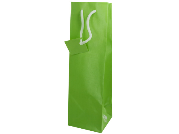 bottle gift bag mint