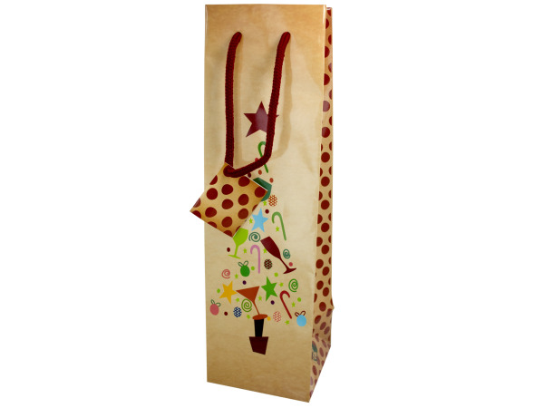 holiday bottle gift bag