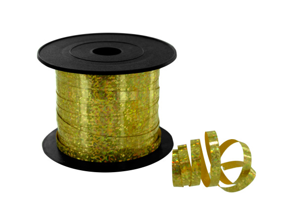 100' gold sparkle spool