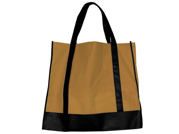 Tan/Black Shopping Tote