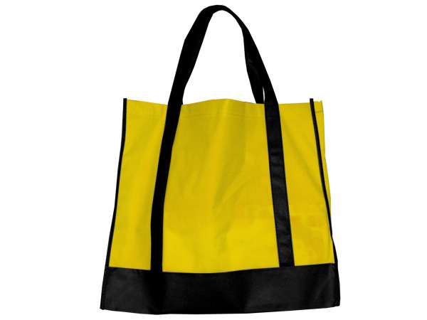 Yellow/Black Shopping Tote