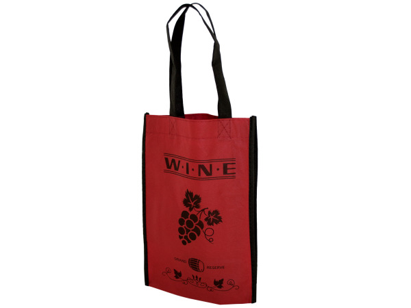 Red Wine Bottle Carry Bag with Two Sections