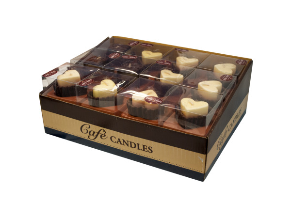 Hearts and Brownies Chocolate Scented Candles Counter Top Display