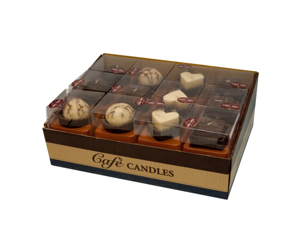 Mini Desserts Chocolate Scented Candles Counter Top Display