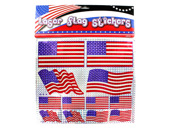 American flag laser stickers