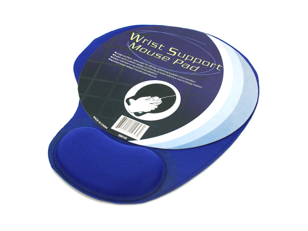 Mouse pad with cushion wrist support