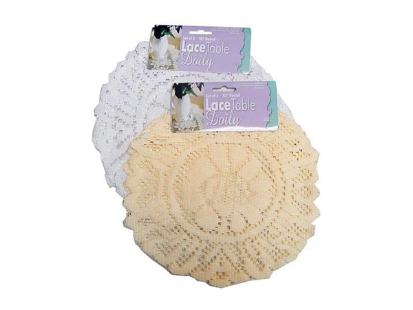 Round lace doily (set of 3)
