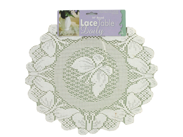 Round lace table doily