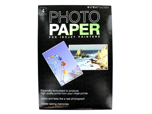 Photo paper for inkjet printers, 4 pack