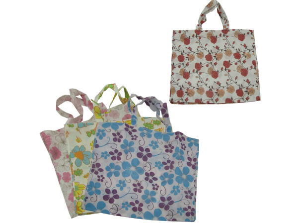 Large flower tote bag, assorted designs
