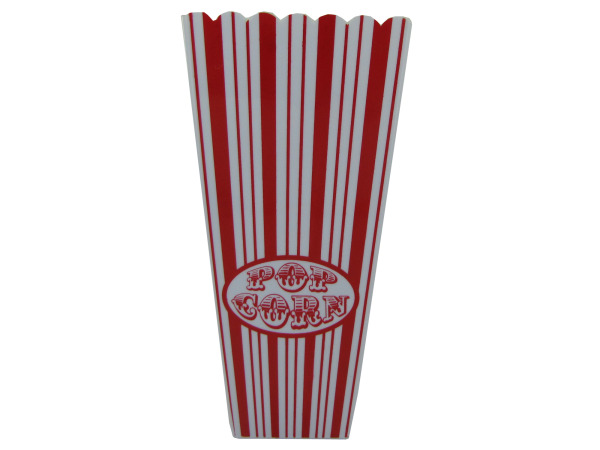 Red striped popcorn bucket