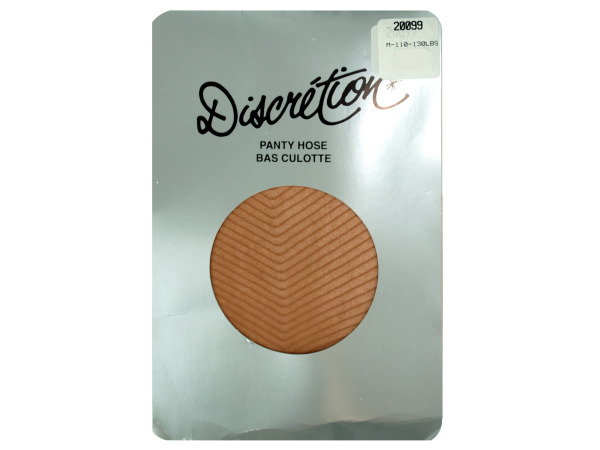 beige panty hose (one size fits 95-160 lbs)