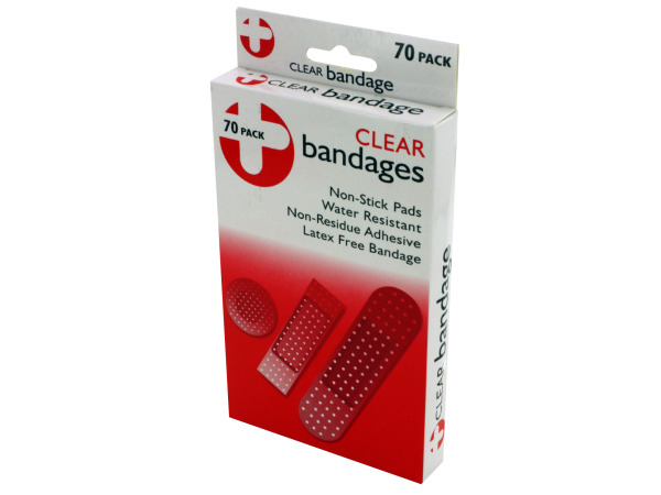 Clear bandage pack