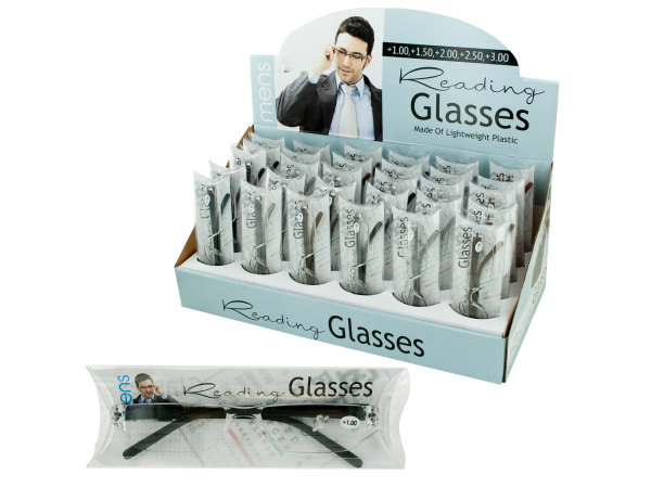 Mens reading glasses display