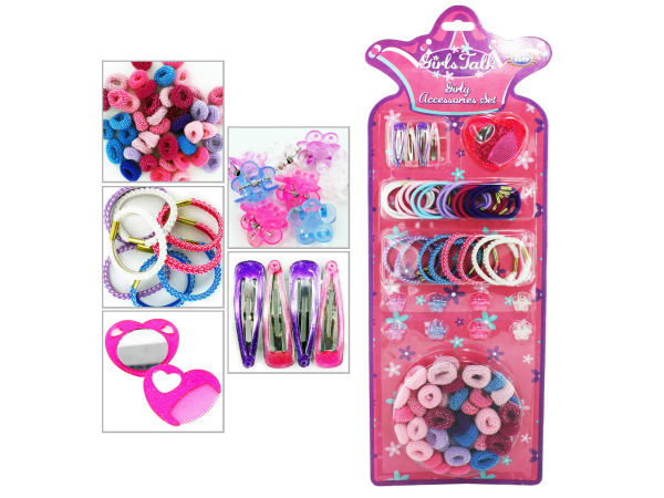 Girly fashion hair accessory set